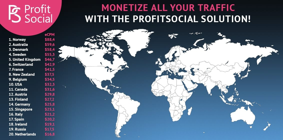 countries ProfitSocial. Дейтинг смартлинк от прямого рекла
